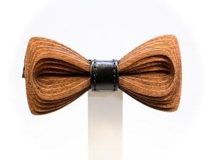 Bow tie SÖÖR Antero Leather Mahogany wood bowtie